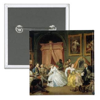 Heirat ein La Modus: IV, das Toilette, c.1743 (Öl Quadratischer Button 5,1 Cm