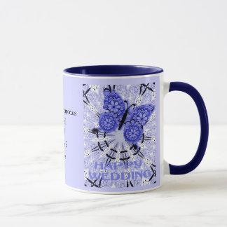 Heirat-Erinnerungen; Schmetterling lila 1 Tasse