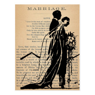 Heirat-Gedicht durch Longfellow Postkarte