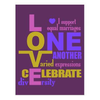 Heirat-Gleichheit/eine Liebegewohnheitspostkarte Postkarte