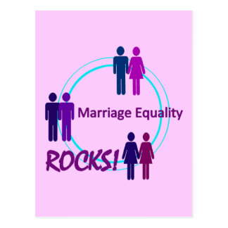 Heirat-Gleichheit FELSEN! Postkarte