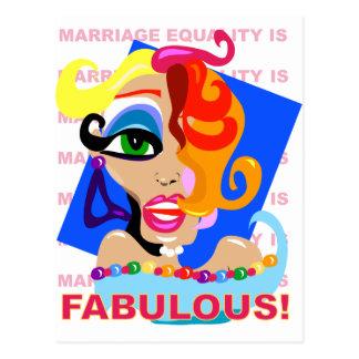 Heirat-Gleichheit ist fabelhaft Postkarte