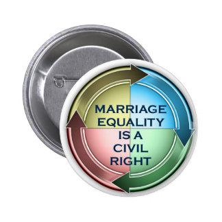 Heirat-Gleichheit Runder Button 5,1 Cm