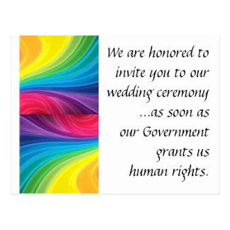 Heirat-Gleichheits-Postkarte Postkarte