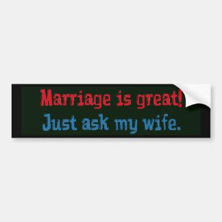Heirat ist… groß autosticker