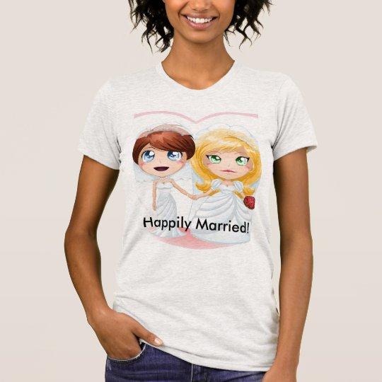 Heirat-Shirt für glückliche Ehefrauen T-Shirt