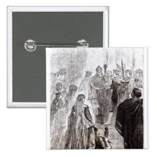 Heirat von Edward II und von Isabella von Frankrei Quadratischer Button 5,1 Cm