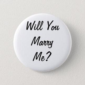 Heiraten Sie mich? Abzeichen Runder Button 5,7 Cm