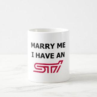 Heiraten Sie mich, den ich eine WTI-Tasse habe Kaffeetasse