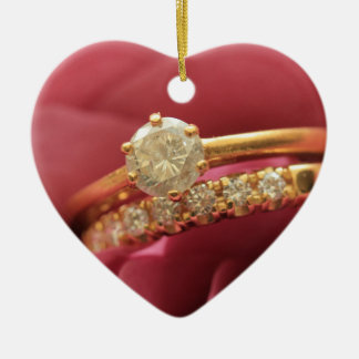 Heiraten Sie mich? Diamantringverzierung Keramik Ornament