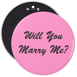 Heiraten Sie mich? - Knopf Runder Button 15,3 Cm