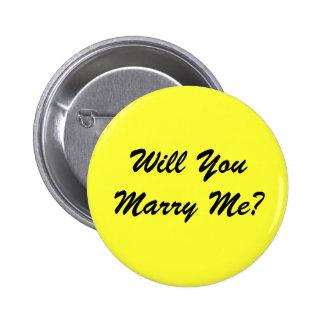 Heiraten Sie mich? - Knopf Runder Button 5,7 Cm