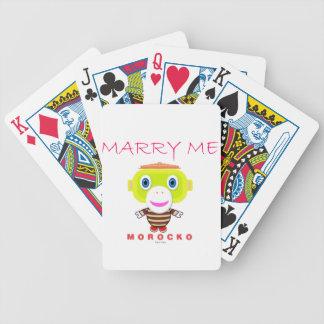 Heiraten Sie Mir-Niedlichen Affen-Morocko Bicycle Spielkarten
