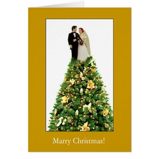 Heiraten Sie Weihnachten! Grußkarte