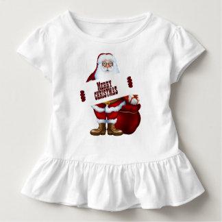 Heiraten Sie Weihnachtskleinkind-Rüsche-T-Stück Kleinkind T-shirt