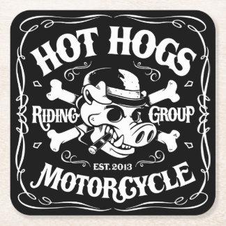 Heiße Hogs™ Klassiker-Untersetzer Kartonuntersetzer Quadrat