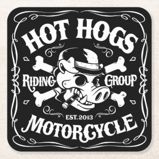 Heiße Hogs™ Klassiker-Untersetzer Rechteckiger Pappuntersetzer