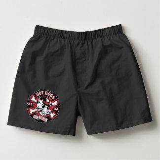 Heiße Hogs™ klassische schwarze Boxer-Kurzschlüsse Herren-Boxershorts