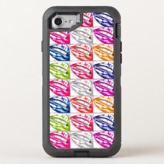 Heiße LippenPop-Kunst OtterBox Defender iPhone 7 Hülle