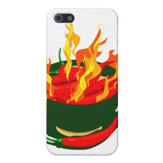 Heiße Paprikaschoten in den grünen Schalenflammen Etui Fürs iPhone 5