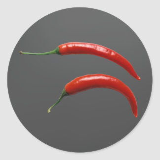 Heißer Chili-Pfeffer Runder Aufkleber