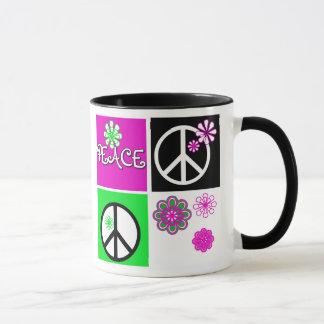 Heißer Farbfrieden Tasse
