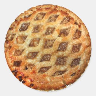 Heißer frischer Apfelkuchen Runder Aufkleber