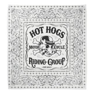 Heißer Hogs™ klassischer weißer Bandana Kopftuch