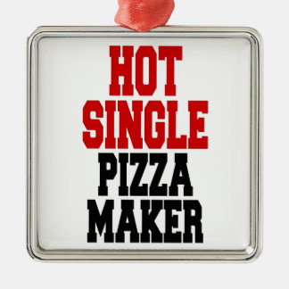 Heißer Single-Pizza-Hersteller Quadratisches Silberfarbenes Ornament