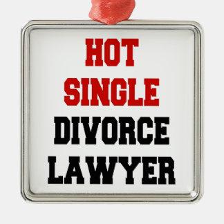 Heißer Single-Scheidungs-Rechtsanwalt Quadratisches Silberfarbenes Ornament