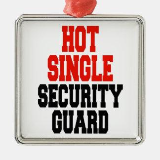 Heißer Single-Sicherheits-Schutz Quadratisches Silberfarbenes Ornament