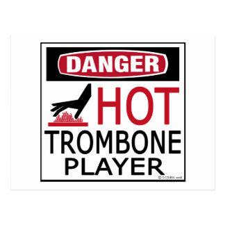 Heißer Trombone-Spieler Postkarte