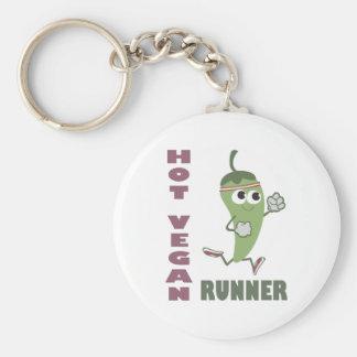 Heißer veganer Läufer Schlüsselanhänger