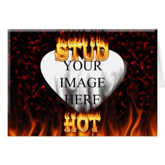 Heißes Bolzenfeuer und rotes Marmorherz Karte