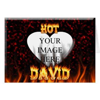 Heißes David-Feuer und Flammenrotmarmor Karte