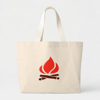 heißes Feuer im Kamin Jumbo Stoffbeutel