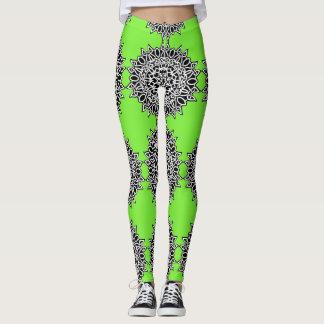 Heißes grünes keltisches Spitze-Muster Leggings