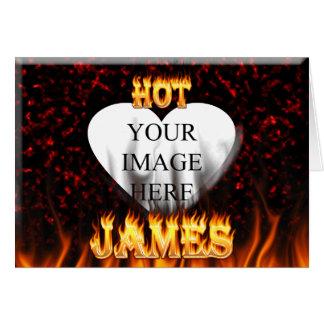 Heißes James-Feuer und rotes Marmorherz Karte