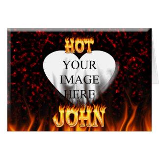 Heißes John-Feuer und Flammenrotmarmor Karte