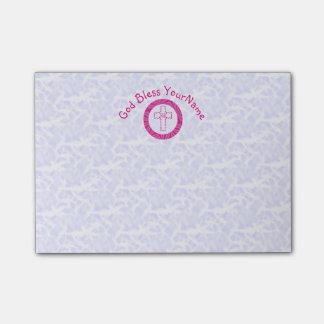 Heißes oder helles rosa christliches post-it klebezettel