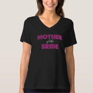 Heißes Rosa-bezaubernde Mutter des Braut-T - Shirt