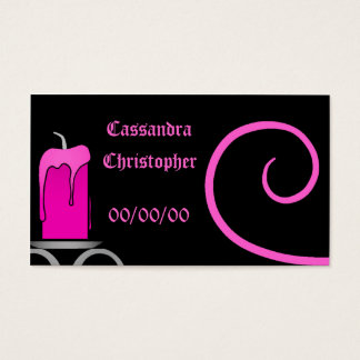 Heißes Rosa der extravaganten gotischen Kandelaber Visitenkarte