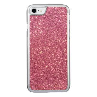Heißes Rosa-Glitter-Glitzern Carved iPhone 7 Hülle
