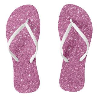 Heißes Rosa-Glitter-Glitzern Flip Flops
