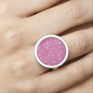 Heißes Rosa-Glitter-Glitzern Foto Ringe