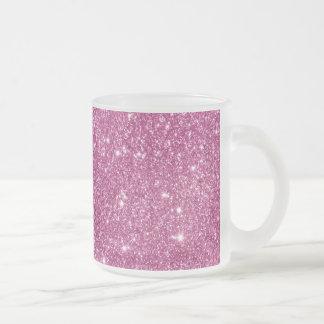Heißes Rosa-Glitter-Glitzern Matte Glastasse