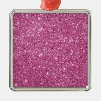 Heißes Rosa-Glitter-Glitzern Silbernes Ornament
