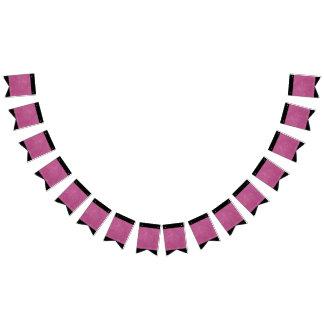 Heißes Rosa-Glitter-Glitzern Wimpelketten
