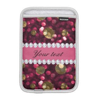 Heißes Rosa-GoldBokeh Imitat-Diamanten Sleeve Für iPad Mini