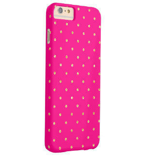 Heißes Rosa-GoldGlitter-kleines Polka-Punkt-Muster Barely There iPhone 6 Plus Hülle